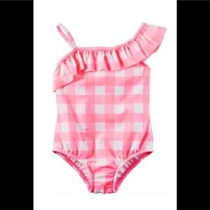 Carter's Baby Girls' Swimsuit, Pink, 24 Months 2T